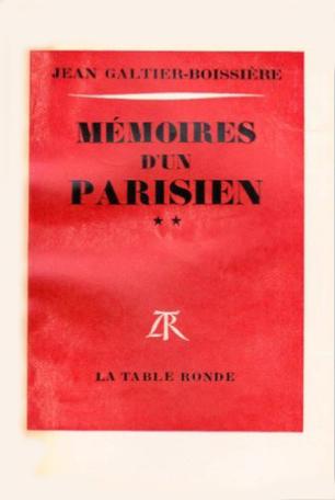 Mémoires d'un Parisien Tome 2 - 1919-1938 2