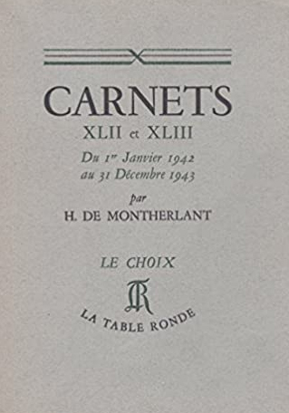 Carnets XLII et XLIII