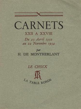 Carnets XXII à XXVIII