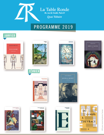 Programme parutions janvier - février 2019